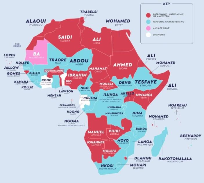 Afrika'da En Yaygın Soyadları